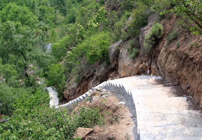 承德景秀园林长胜堡省级森林公园石阶